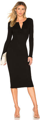 Enza Costa Thermal Henley Midi Dress