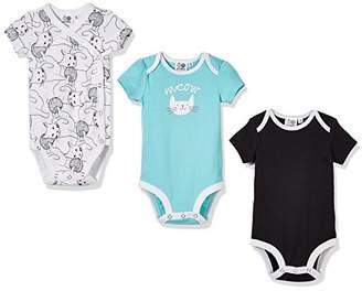 Silly Apples Baby Toddler Boys or Girls 3-Pack Summer Safari Tiger Onesies Bodysuit (24M)