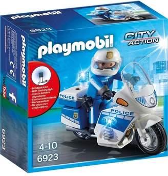 Playmobil UK Boys City Action Police Bike With LED Light