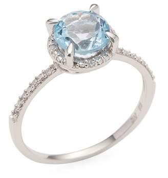 Rina Limor Fine Jewelry Women's 10K White Gold Diamond Halo Ring