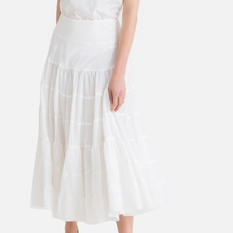 8e15874d4 DERHY Lavalliere Long Ruffled Skirt