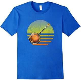 Vintage Banjo Sunset Shirt-Bluegrass Fan Banjo T-Shirt