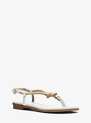 4da560837ac5 at Michael Kors · Michael Kors Holly Rope-Trim Leather Sandal