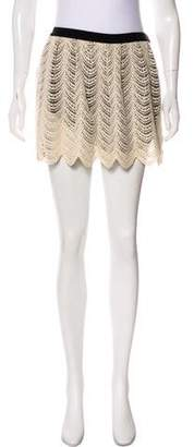Gryphon Crocheted Mini Skirt
