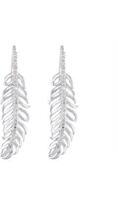 Penny Preville 18k Diamond Feather Drop Earrings