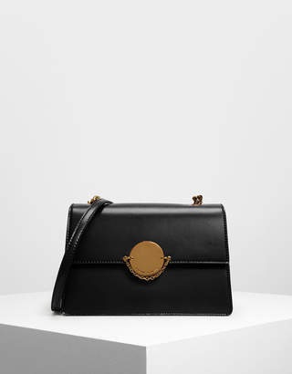 Charles & Keith Chain Link Clutch & Crossbody