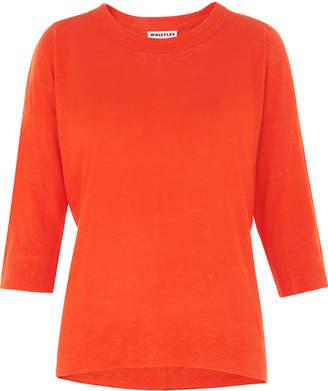 Whistles Laura 3/4 Sleeve Linen T-shirt