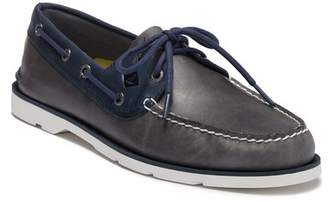 Sperry Leeward 2-Eye Leather Nautical Boat Shoe - Wide Width Available