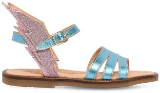 Ocra Metallic Leather Sandals