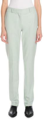 Victoria Beckham Victoria Mid-Rise Slim Straight-Leg Stretch-Wool Pants