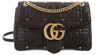 Gucci GG Studded Matelassé Medium Marmont Shoulder Bag