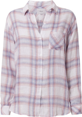 Rails Charli Bluebell Plaid Top $158 thestylecure.com