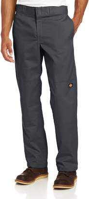 Dickies Men's Regular Straight Fit Double Knee Stretch Twill Work Pant