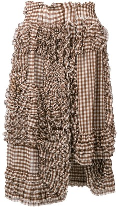 Comme des Garcons Pre-Owned gingham frilled skirt