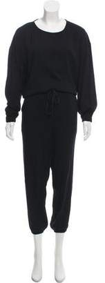 Ulla Johnson Crew Neck Long Sleeve Jumpsuit
