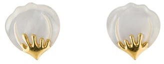 Tiffany & Co. 18K Mother of Pearl Clip-On Earrings $1,795 thestylecure.com