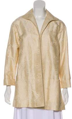 Lafayette 148 Silk Embroidered Evening Jacket