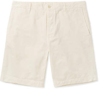 Off-White Mr P. - Garment-Dyed Cotton-Twill Bermuda Shorts