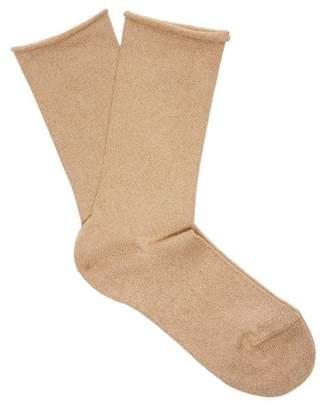 Falke Lurex Logo Intarsia Knit Socks - Womens - Camel