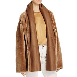 Vince Women's Shawl Collar Shearling Coat