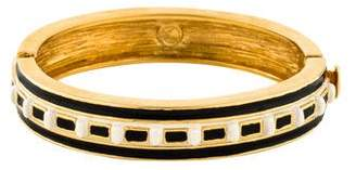 St. John Enamel Hinged Bangle
