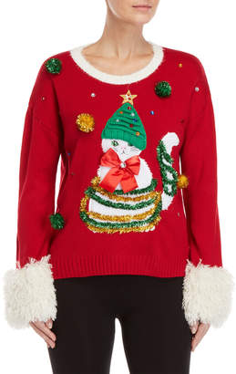 It's Our Time Kitty Garland Ugly Christmas Sweater