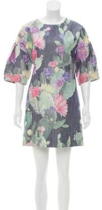 Matthew Williamson Floral Shantung Dress