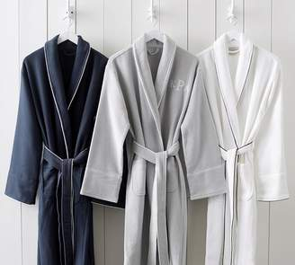 Pottery Barn Hotel Piped Trim Robe