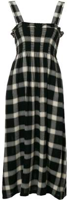 MM6 MAISON MARGIELA check flared midi dress