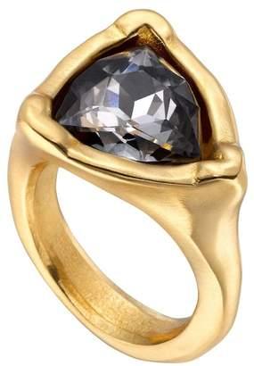 Uno de 50 Star-Trick Bezel Set Swarovski Crystal Accented Geo Ring