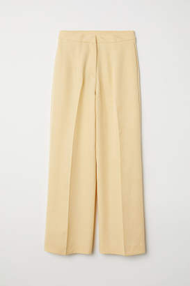 H&M Lyocell-blend Pants - Yellow