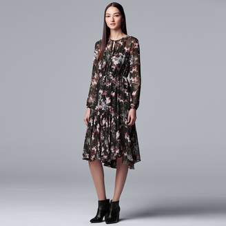 5fc27cc311d10 Vera Wang Women s Simply Vera Floral Pleated Fit   Flare Dress