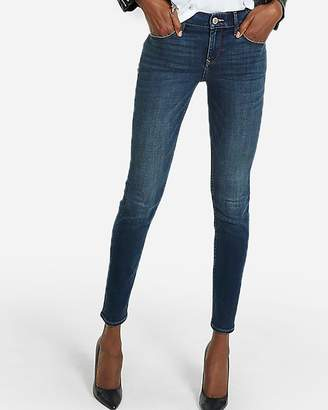 Express Mid Rise Dark Wash Stretch+ Skinny Jeans