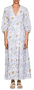 Thierry Colson Women's Phoebe Floral Cotton Maxi Dress - Blue Floral