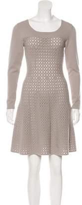 D-Exterior D. Exterior Wool-Blend Open Knit Dress