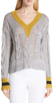 Rag & Bone Emma Cable Knit Sweater