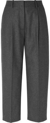 Acne Studios Cropped Wool-blend Straight-leg Pants - Gray