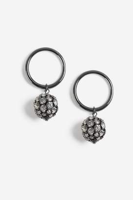 Topshop Crystal Ball Doorknocker Earrings