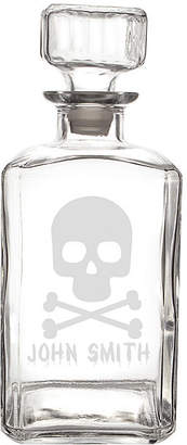 Cathy's Concepts CATHYS CONCEPTS Personalized Skull & Crossbones 34-Oz. Glass Decanter