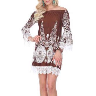 WHITE MARK White Mark Mya Paisley Sheath Dress