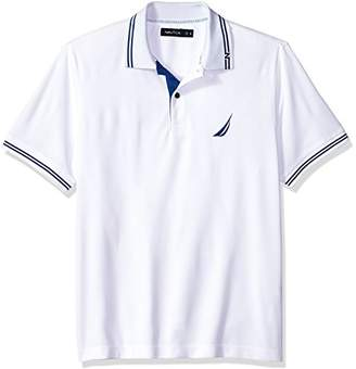 Nautica Men's Performance Wicking and Stain Resistant Solid Polo Shirt
