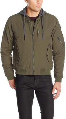 Ben Sherman Men's Bomber Jacket with French Terry Hood