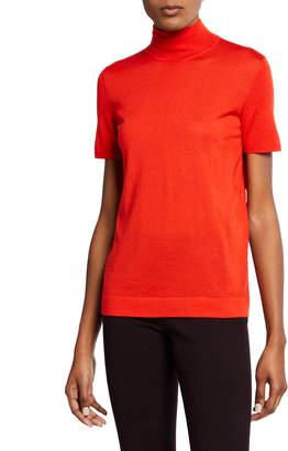 Akris Short-Sleeve Turtleneck Sweater