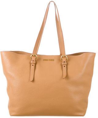 Miu MiuMiu Miu Leather Tote Bag