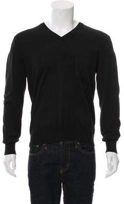 Christian Dior Knit V-Neck Sweater
