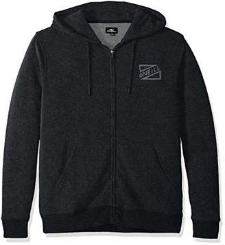 O'Neill Men's Full Zip Front and Back Logo Hooded Sweatshirt