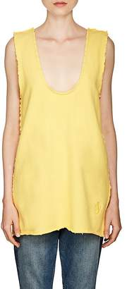J.W.Anderson WOMEN'S STRETCH-COTTON TERRY V-NECK TUNIC