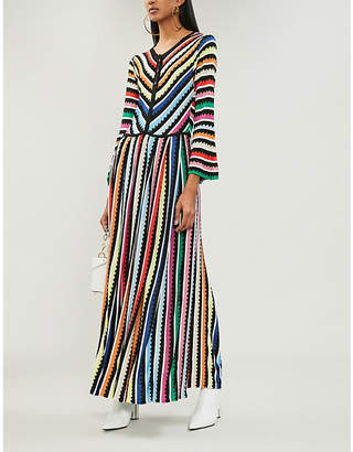 Mary Katrantzou Striped knitted midi dress ec91ae0e6