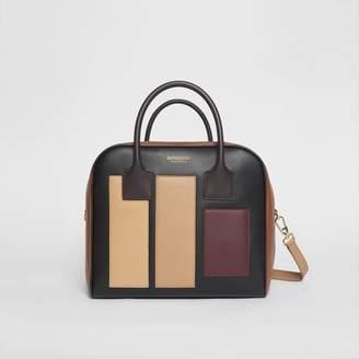 Burberry Medium Panelled Leather Cube Bag