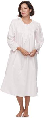 Miss Elaine Women's Essentials Pajamas: Long Rounded Bottom Nightgown